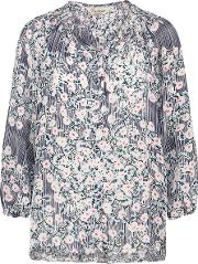 Tucker , Classic Blouse In Cherry Blossom