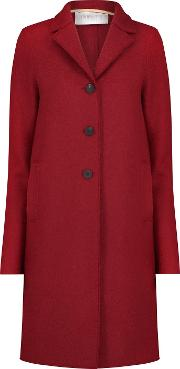 Boxy Coat In Scarlett