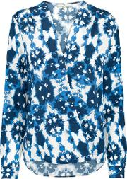 Charlotte Sparre , Wrap Blouse In Ink Blue