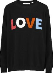 Love Sweater In Navy And Coral