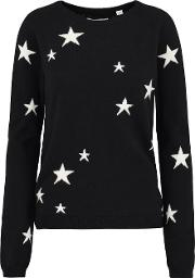 Star Sweater In Navy And Cream
