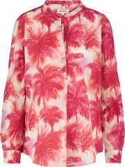 Hartford , Carta Shirt In Pink Palms