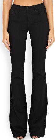 J Brand Jeans , Maria Flare Jean In Seriously Black