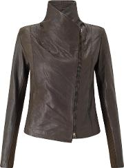 Trilogy , Leather Scuba Jacket In Brown