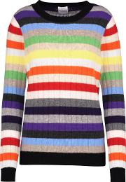 Amber Rainbow Jumper In Multi Stripe