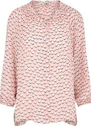 Tucker , Classic Blouse In Pink And White Dots