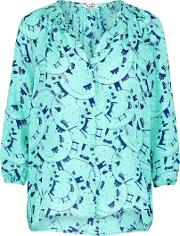 Tucker , Classic Blouse In Taxi Green