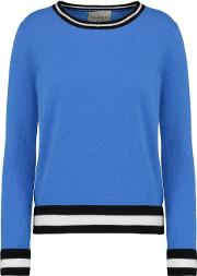 Jumper1234 , Boxy Crew Jumper With Striped Edge In Sky Blue