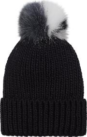Wool Mix Hat In Navy With Blue