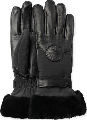 Ugg , Performance Smart Glove With Fur Womens Cold Weather Accessories Black Sm