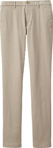 Uniqlo , Men Ultra Stretch Chino Flat Front Pants Beige 31inch
