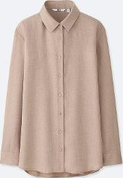 Uniqlo , Women Easycare Silk Touch Long Sleeve Blouse