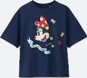 Uniqlo , Women Olympia Le Tan X Disney Graphic T Shirt Blue M