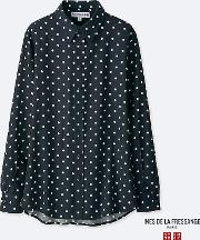 Uniqlo , Women Ines Rayon Printed Long Sleeve Blouse
