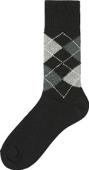 Uniqlo , Men Argyle Socks Black No Control
