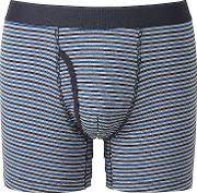 Uniqlo , Men Supima Cotton Striped Trunks Blue S