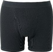 Uniqlo , Men Supima Cotton Waffle Trunks Black S
