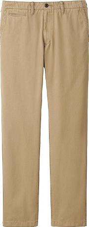 Uniqlo , Men Vintage Regular Fit Chino Flat Front Pants Brown 30inch