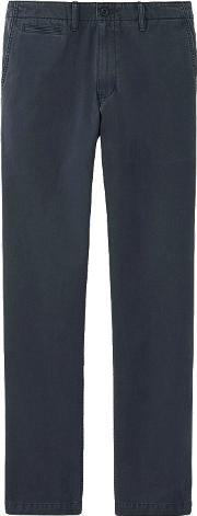 Uniqlo , Men Vintage Regular Fit Chino Flat Front Pants Navy 29inch