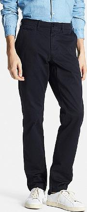 Uniqlo , Men Vintage Regular Fit Chino Flat Front Pants Navy 33inch