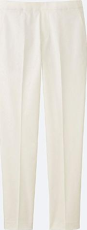 Uniqlo , Women Satin Touch Ankle Length Trousers