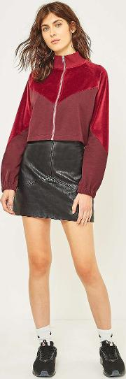 Cooperative By Urban Outfitters , Urban Outfitters Faux Leather Seamed A Line Mini Skirt