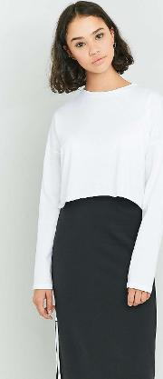 Bdg , Batwing Long Sleeve Cropped Top, White