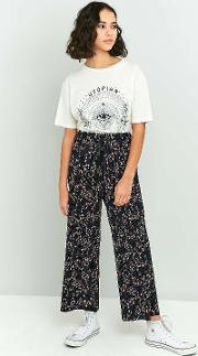 Light Before Dark , Printed Plisse Trousers, Navy