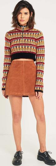 Cooperative By Urban Outfitters , Urban Outfitters Suede Pelmet Mini Skirt