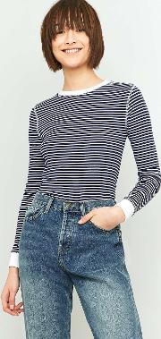 Cooperative By Urban Outfitters , Urban Outfitters Long Sleeve Textured Striped Top