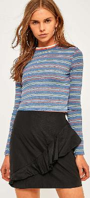 Cooperative By Urban Outfitters , Urban Outfitters Tipped Striped Long Sleeve T Shirt