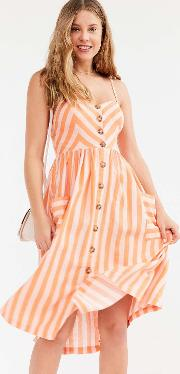 Cooperative By Urban Outfitters , Urban Outfitters Emilia Linen Button Down Midi Dress