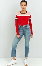 Cooperative By Urban Outfitters , Urban Outfitters Fitted Ribbed Striped Jumper