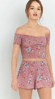 Ecote , Floral Pull On Shorts