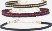 Urban Outfitters , Sporty Striped Bracelet 3 Pack, Assorted