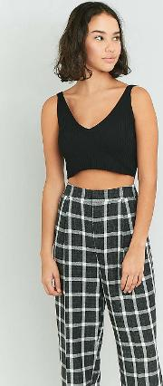 Cooperative By Urban Outfitters , Urban Outfitters Black V Neck Cropped Cami