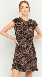 Cooperative By Urban Outfitters , Urban Outfitters Daytime Black Printed Dress