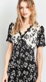 Cooperative By Urban Outfitters , Urban Outfitters Teatime Floral Dress, Black Multi