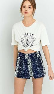 Ecote , Blue Floral Pull On Shorts