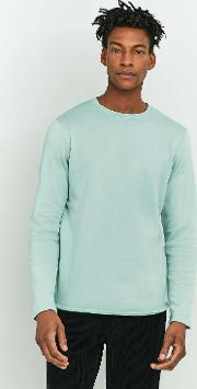 Edwin , Garment Terry Mint Long Sleeve Shirt
