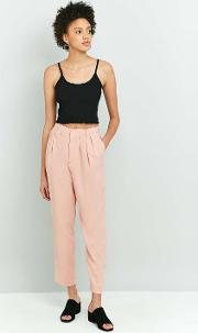 Light Before Dark , '80s High Waist Tapered Trousers, Pink