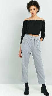 Light Before Dark , '80s High Waist Tapered Trousers, Sky