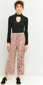 Light Before Dark , Pleated Pink Wide Leg Trousers, Pink