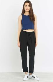Light Before Dark , Zip Front Black Trousers, Black