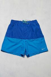 Nike , Navy And Blue Colour Block Swim Shorts, Assorted