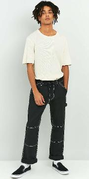 Shore Leave By Urban Outfitters , Shore Leave Washed Black Carpenter Trousers, Black