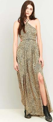 Silence  Noise , Silence Noise Cecilia Strappy Y Neck Maxi Dress, Taupe
