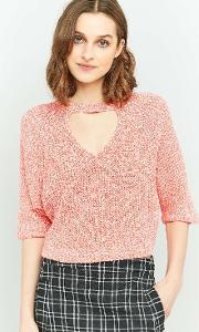 Silence  Noise , Silence Noise Maddie Open Front Crop Top, Pink