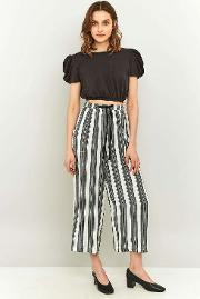 Staring At Stars , Striped Wide Leg Trousers, Grey