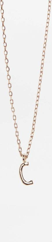 Urban Outfitters , Delicate Initial Necklace, Charcoal